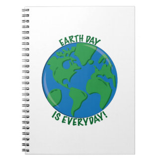 Earth Day Everyday Spiral Notebook
