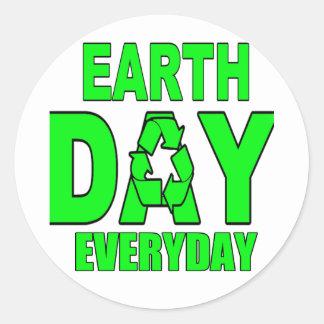 Earth Day Everyday Round Sticker