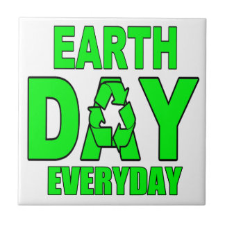 Earth Day Everyday Small Square Tile