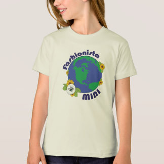 Earth Day Fashionista Mini Planet Design T-Shirt