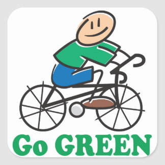 Earth Day Go Green Stickers