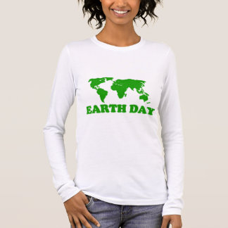Earth Day Grass Map Women Long Sleeve T-Shirt