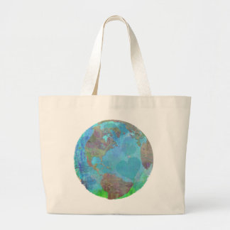 EARTH DAY GREEN SAVE THE ENVIRONMENT TOTE CANVAS BAG