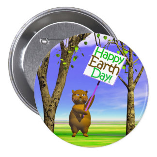 Earth Day Greeting Pins