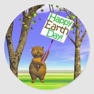 Earth Day Greeting Stickers
