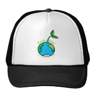 Earth Day Handle with care Mesh Hats