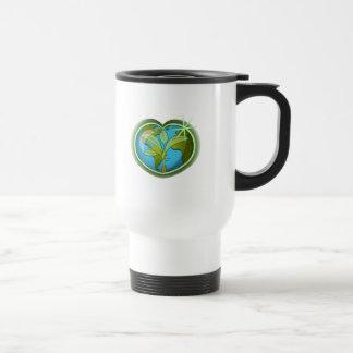 Earth Day Heart Travel Mug