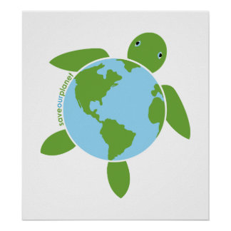 Earth Day Honu Poster