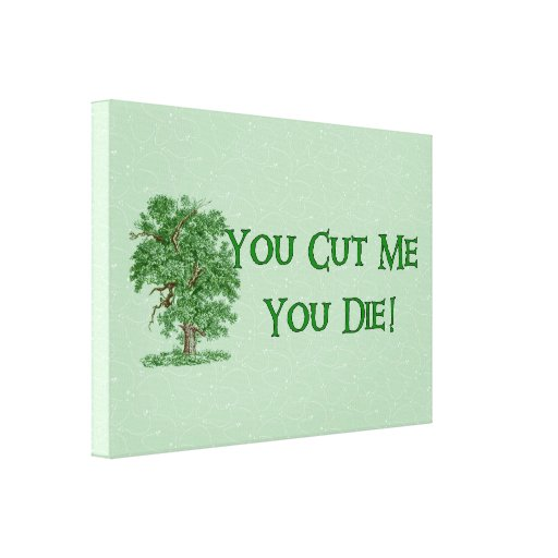 Earth Day Humor Gallery Wrap Canvas