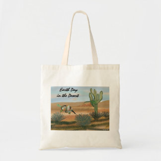 Earth Day in the Desert Organic Grocery Tote Tote Bags