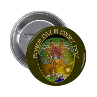 Earth Day is Every Day Pinback Buttons