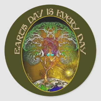 Earth Day is Every Day Round Stickers
