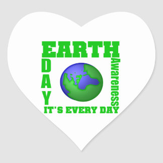 Earth Day It's Every Day Stickers