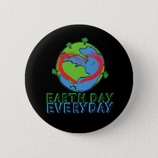 Earth Day: Keep Mother Nature Green & Recycled 6 Cm Round Badge
