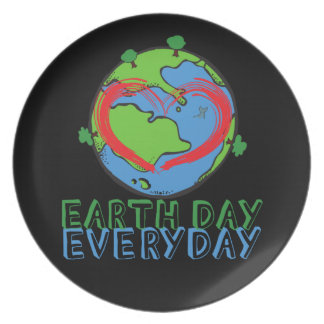 Earth Day: Keep Mother Nature Green & Recycled Plate