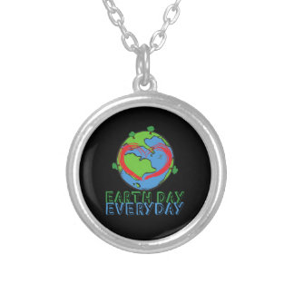 Earth Day: Keep Mother Nature Green & Recycled Silver Plated Necklace