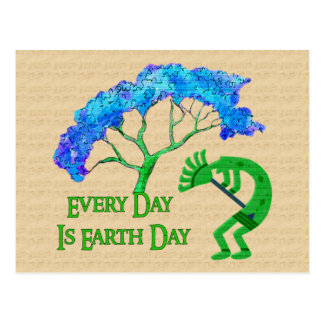 Earth Day Kokopelli Postcard
