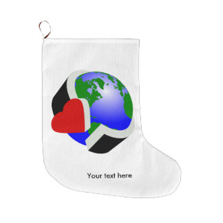 Earth Day Large Christmas Stocking