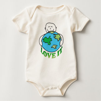 Earth Day Love the Earth Baby Bodysuit