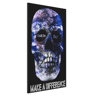 Earth Day Make A Difference Wrapped Canvas Gallery Wrapped Canvas