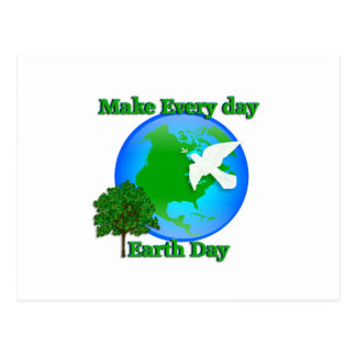 Earth day Make Every Day Earth Day 3D graphic Postcard