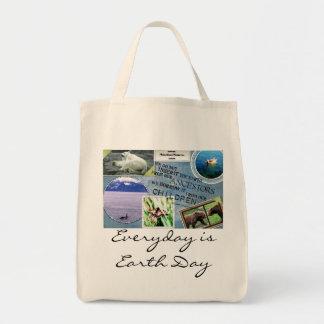 Earth Day Organic Grocery Bag-Everyday is Earth Da
