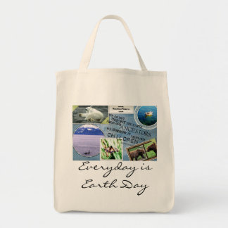 Earth Day Organic Grocery Bag-Everyday is Earth Da Tote Bag