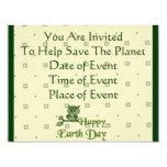 "Earth Day Owl 4.25"" X 5.5"" Invitation Card"