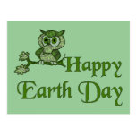 Earth Day Owl Postcards
