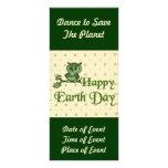 Earth Day Owl Rack Card Design
