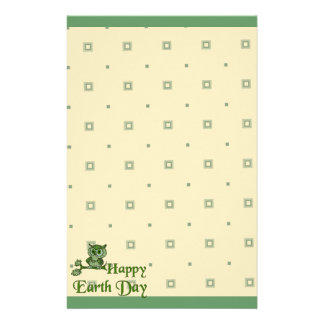 Earth Day Owl Customized Stationery