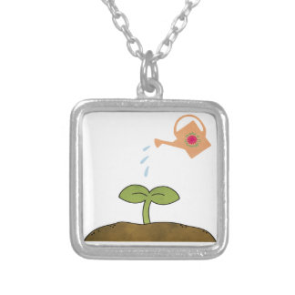 Earth Day Plant trees Make a Difference Necklace