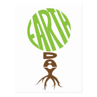 Earth day Post Card, tree shape Postcard