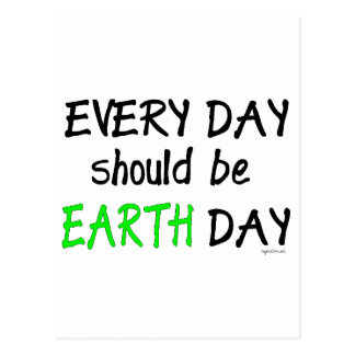 Earth day post card