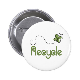 Earth Day Recycle T-shirt 6 Cm Round Badge