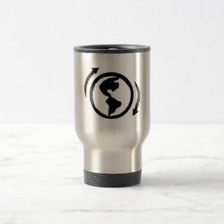 Earth Day recycling coffee travel mug