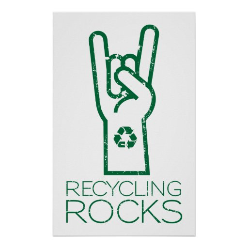 Earth day recycling rocks poster zazzle