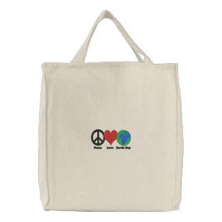 Earth Day Reusable Shopping Bag Embroidered Tote Bag