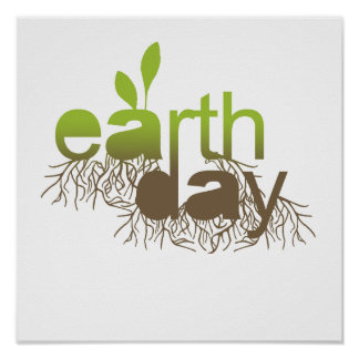 Earth Day roots brown Poster