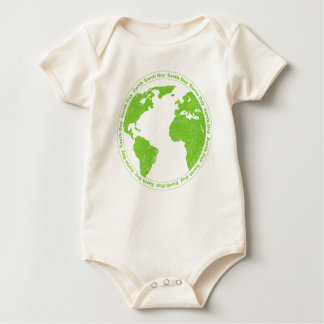 Earth Day Rubber Stamp Infant Creeper