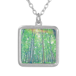 Earth Day Silver Plated Necklace
