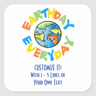 Earth Day Square Sticker