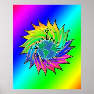 Earth Day ~ Sunburst Poster