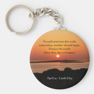Earth Day Sunset Keychain