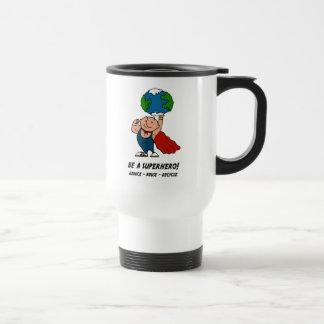 Earth Day Superhero Travel Mug