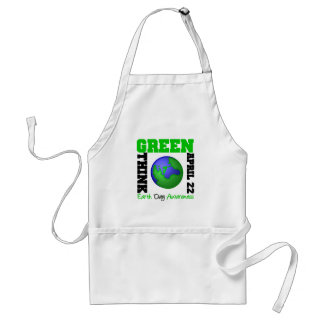 Earth Day Think Green Apron