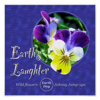 Earth Day Wildflower Laughter Poster