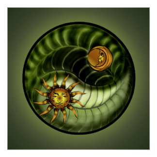 Earth Day Yin Yang Print