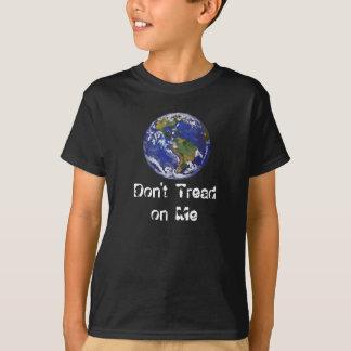 Earth Don't Tread on Me Kids Dark T-Shirt