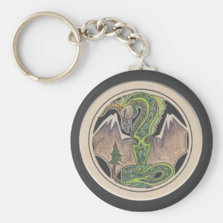 Earth Dragon Keychain